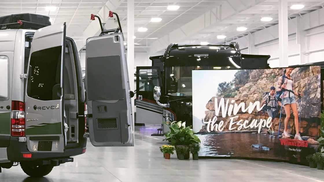 DKY Supports Successful Winnebago Product Launch